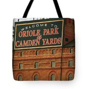 Baltimore Orioles Park At Camden Yards Tote Bag by Frank Romeo