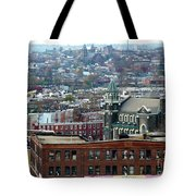 Baltimore Rooftops Tote Bag by Carol Groenen