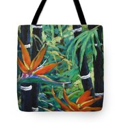 Bamboo And Birds Of Paradise Tote Bag