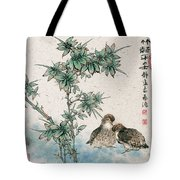 Bamboo And Chicken Tote Bag