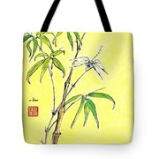 Bamboo And Dragonfly Tote Bag