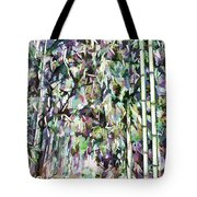 Bamboo Background In Nature Tote Bag