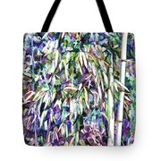 Bamboo Forest Background Tote Bag