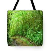 Bamboo Forest Trail Tote Bag