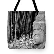 Bamboo Landscape  Statue Asian  Tote Bag