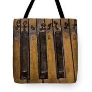 Bamboo Organ Keys Tote Bag