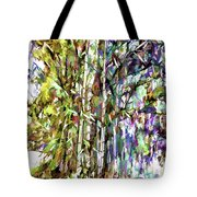 Bamboo Trees In Park Tote Bag