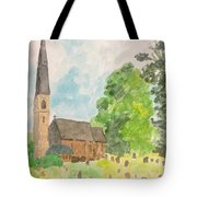 Bamford Church And Serenity Of Nature Tote Bag