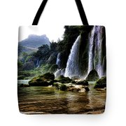 Ban Gioc Vietnam's Most Beautiful Waterfall  Tote Bag