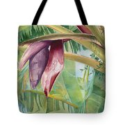 Banana Flower Tote Bag by AnnaJo Vahle