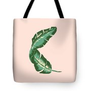 Banana Leaf Square Print Tote Bag