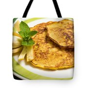 Banana Pancakes Closeup Tote Bag