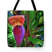 Banana Plant Flower And Leaves Tote Bag