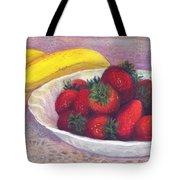 Bananas And Strawberries Tote Bag