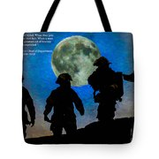Band Of Brothers - Oil Tote Bag