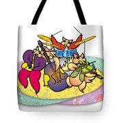 Band Of Foxes Tote Bag
