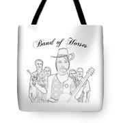 Band Of Horses Tote Bag