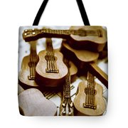 Band Of Live Acoustic Guitars Tote Bag