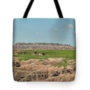 Badlands Panorama Tote Bag