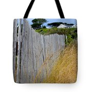 Bandon Beach Fence Tote Bag