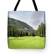 Banff Springs Golf And The Castle Tote Bag