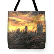 Bangkok City Sunset Glow Tote Bag