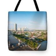 Bangkok Senic Tote Bag by Atiketta Sangasaeng