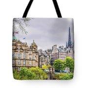 Bank Of Scotland And Skyline Edinburgh Tote Bag