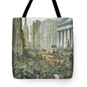 Bank Panic, 1884 Tote Bag