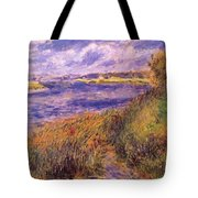 Banks Of The Seine At Champrosay Tote Bag