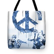 Banksy Soldiers-blue Tote Bag