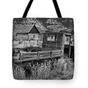 Bannack Extended Parking Black And White Tote Bag