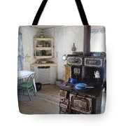 Bannack Ghost Town  Kitchen And Stove - Montana Territory Tote Bag