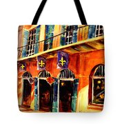 Banners On Royal Street Tote Bag