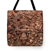 Banteay Srei Bas Relief Carvings - Cambodia Tote Bag
