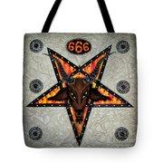 Baphomet - Satanic Pentagram - 666 Tote Bag