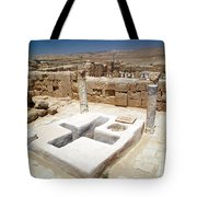 Baptistery Eastern Church Mamshit Israel Tote Bag