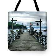 Bar Habor Pier Tote Bag
