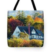 Bar Harbor Autumn House Tote Bag