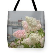 Bar Harbor Flowers In The Fog Tote Bag