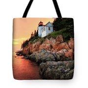 Bar Harbor Light House Tote Bag