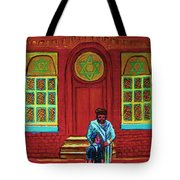 Bar Mitzvah Lesson At The Synagogue Tote Bag