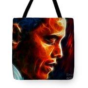 Barack Obama Tote Bag by Pamela Johnson