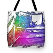 Barbara Cool Rainbow 3 Dimensional Tote Bag