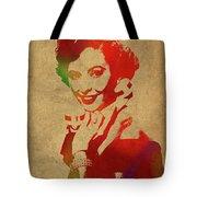 Barbara Stanwyck Watercolor Portrait Tote Bag