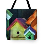 Barbara's Birdhouses Tote Bag