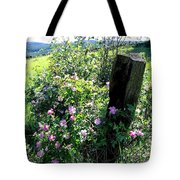 Barbed Wire And Roses Tote Bag