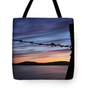 Barbed Wire Sunset Tote Bag