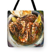 Barbequed Shrimp Tote Bag by Dianne Parks