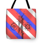 Barber Pole Patent Tote Bag